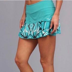 NIKE Victory Pleated Tennis Skirt Teal w/Print